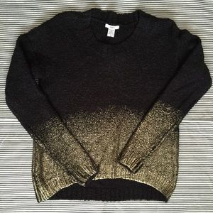 LF Sweaters -  bar iii  •  black and gold ombré sweater  9dfbe11ab