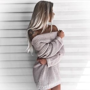 "Bare Anthology Sweaters - NBF ❤️ ""Spellcast"" Chunky Off Shoulder Sweater"