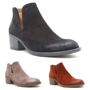 Shoes - ✨ Vegan Suede Booties, Ankle Boots