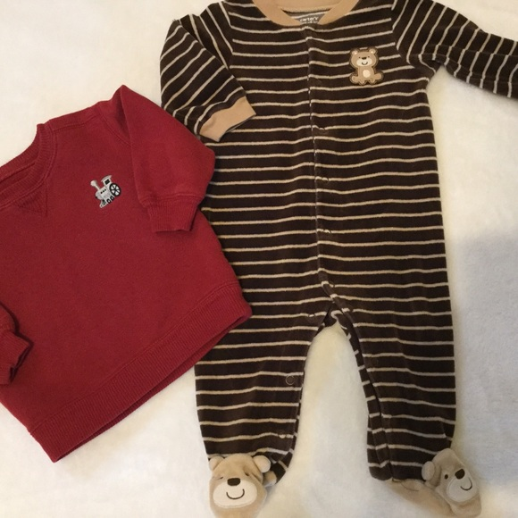 b439bbee0 Boys winter lot 6 months 6-9 months pajama sweater.  M_5801bdbb2de5127773047e35. Other One Pieces ...