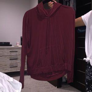 BRANDY MELVILLE maroon hoodie