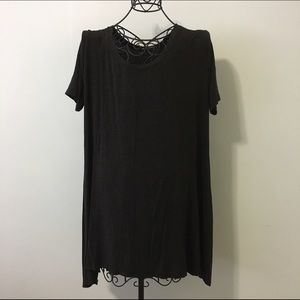 Brandy Melville Dresses & Skirts - Dark grey babydoll dress