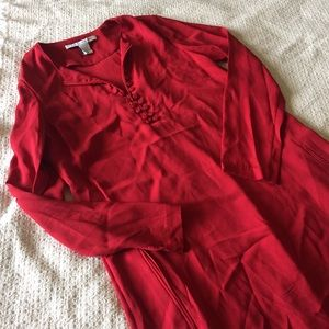 Diane von Furstenberg Dresses & Skirts - DVF red silk button dress