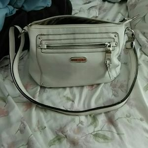 White leather Dana Buchman purse