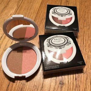 NYX bronzer & blush compact. BNWT.