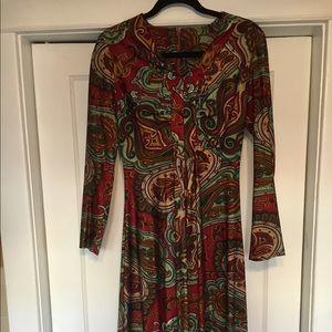 Vintage paisley maxi dress