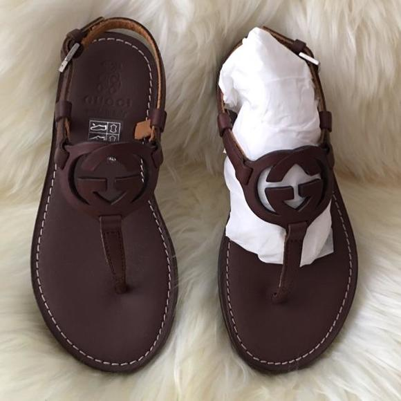4378a5b2723e6 Gucci kids leather sandals. M 58022cc42a40b8d57901368c