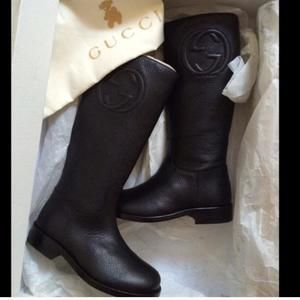 Other - Gucci kids tall leather boots