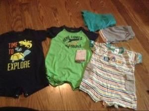 Carters Other - Summer 3 rompers 2 shorts BUY IN $15 BUNDLE ONLY