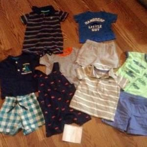 Carters Other - 10 pieces Sumner shorts shirts rompers
