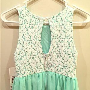 Emerald Sundae Dresses & Skirts - Emerald Sundae Chiffon and Lace Mini Dress NWT!