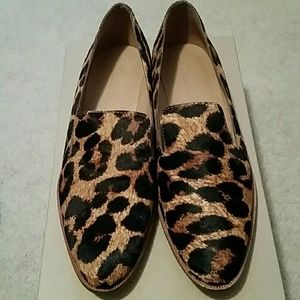 Madewell Leopared Calf Hair Loafers