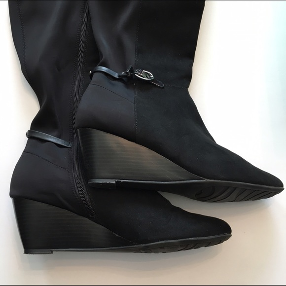 63348bdac79f Dana Buchman Shoes - Dana Buchman Tall Black Wedge Boots