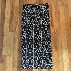 Geometric Pencil Skirt