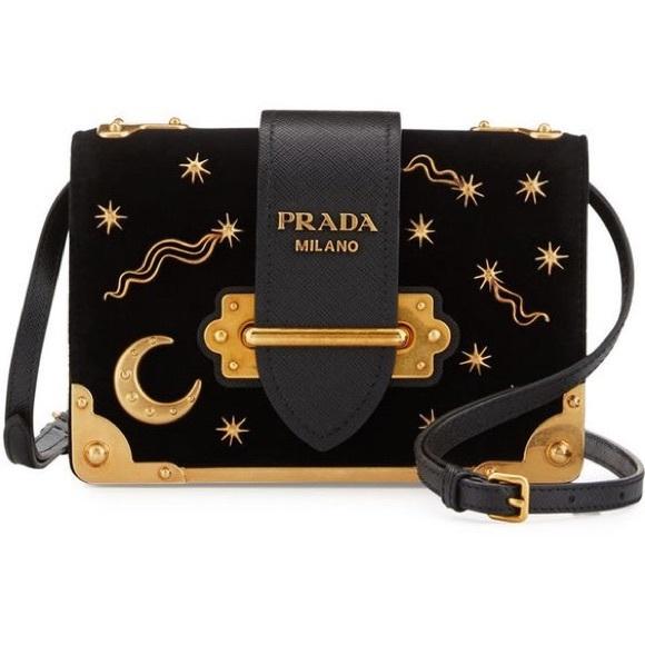 66aa2816af9f Prada Bags | Iso Small Velvet Astrology Cahier Bag | Poshmark