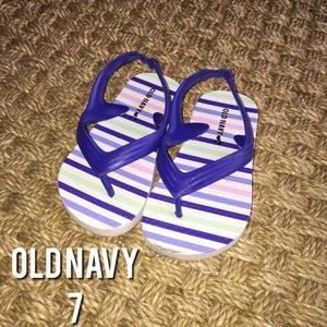 Old Navy Other - Old Navy Blue Striped Flip Flops With Back 7
