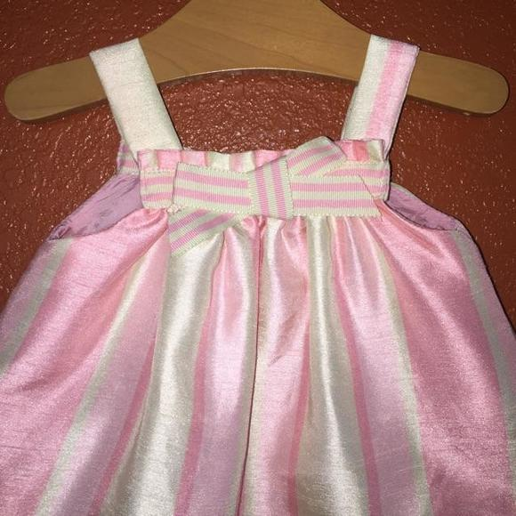Disney Dresses - Disney Classic Pooh Pink and Green Satin Dress NB
