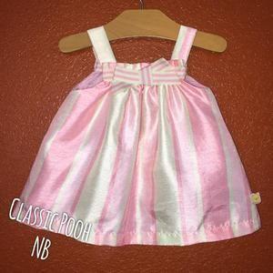 Disney Other - Disney Classic Pooh Pink and Green Satin Dress NB
