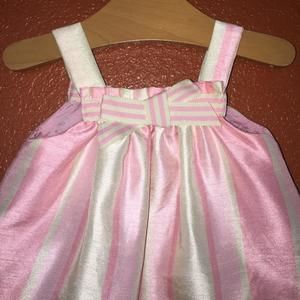 Disney Dresses - Disney Classic Pooh Pink and Green Satin Dress NB