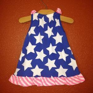 Circo (Target) Dresses - Circo Blue Star Dress With Neon Pink Newborn NEW