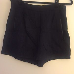 Fifteen Twenty Tencel Shorts with Leather Trim!