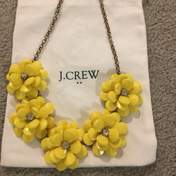 J crew jewelry jcrew acrylic yellow flower necklace poshmark jcrew acrylic yellow flower necklace mightylinksfo