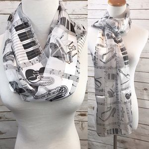 Accessories - Piano Violin 🎻 Infinity Scarf, music teacher gift