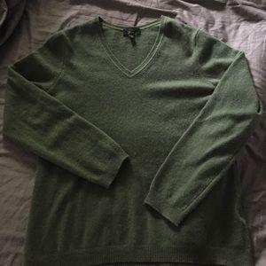 Moss green cashmere