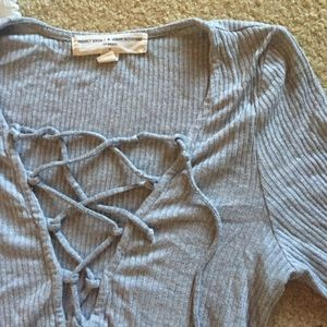 Urban outfitters grey long sleeve shirt