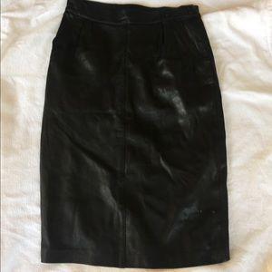 Vintage Leather Spy Skirt (Pencil Skirt)