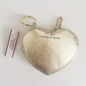 NEW Victoria's Secret Heart Coin Pouch Keychain