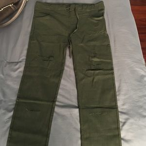 Armani Junior Denim - Hunter green skinny pants!!