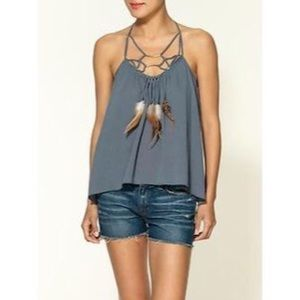 Rebecca Taylor Tops - Rebecca Taylor Feathered Cotton Tank