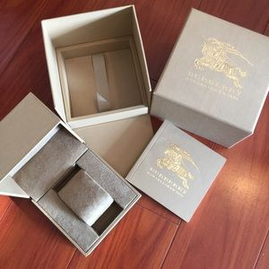 Authentic Burberry Watch Box full Set