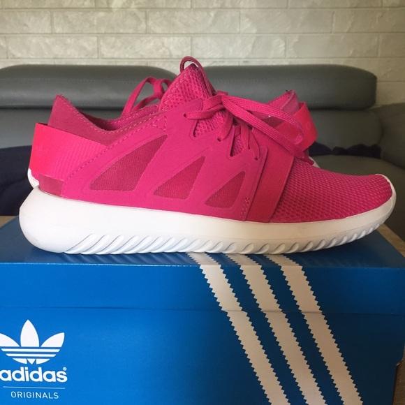 Adidas Shoes   Hot Pink Tubular Viral   Poshmark a9eac39f0e