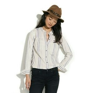 Madewell Striped Boiler Shirt