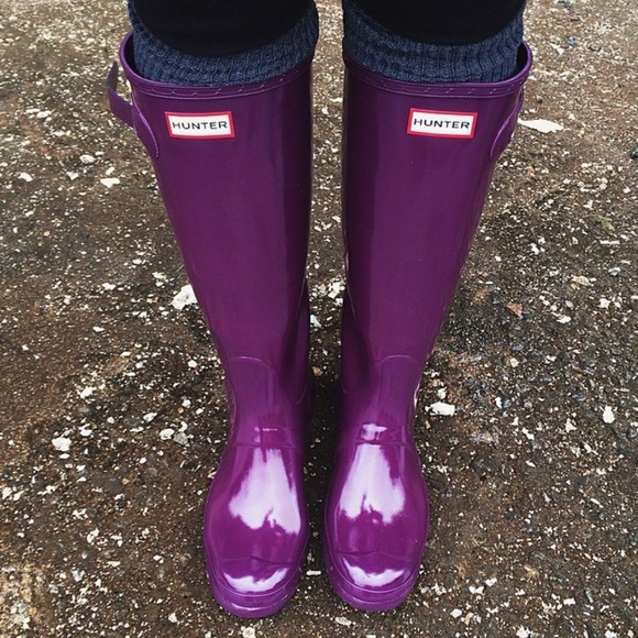 c6e7d411b604 Hunter Shoes - Plum Hunter Boots!  PLUS Hunter cleaning products