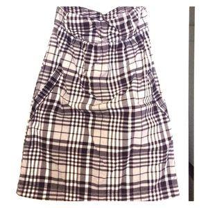 AEO navy gingham dress