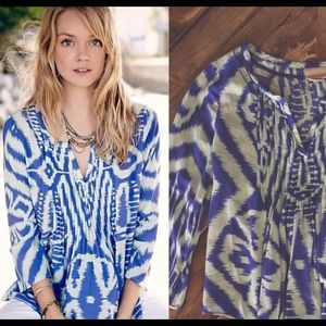 Anthropologie Vanessa Virginia Ikat Blouse
