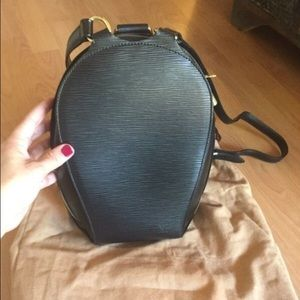 Louis Vuitton black epi-leather backpack