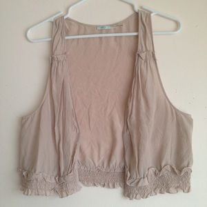 Kimchi Blue Tops - Urban Outfitters Sheer Silk Vest