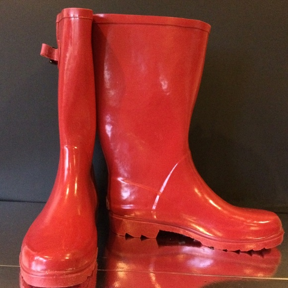 Stone Creek - Stone Creek Red Rain Boots from Shoes's closet on ...