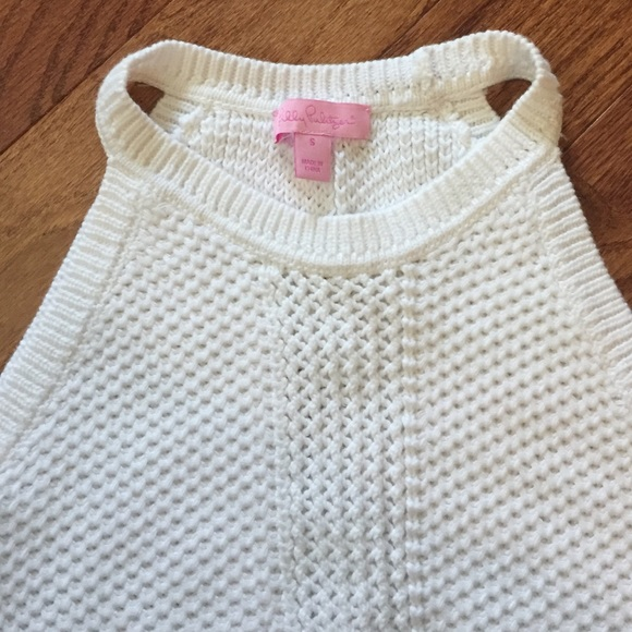 Lilly Pulitzer Tops White Knit Halter Top Poshmark