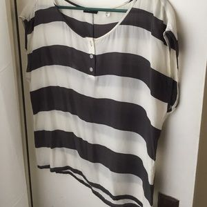 BDG Striped Silk Shirt