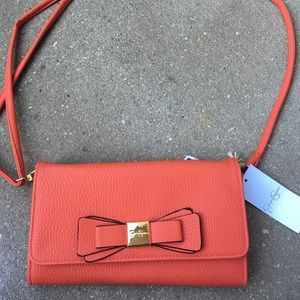 Jessica Simpson orange crossbody bag