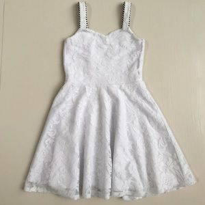 Sally Miller Other - GIRLS WHITE LACE SKATER DRESS Size 10