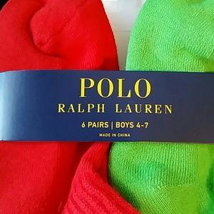 624998a9 FINAL PRICE Polo RalphLauren 6 pair boys 4-7 socks NWT