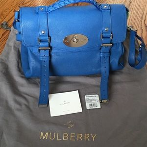 Mulberry Handbags - Mulberry Alexa in Marine Blue