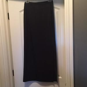 Long black skirt with side slit  size small