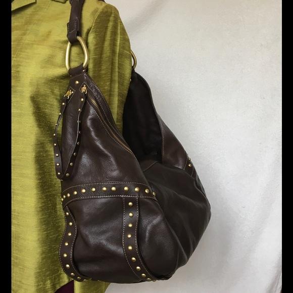 Kenneth Cole Bags   Leather New York Hudson Rivet Ii Euc   Poshmark 3641c99883